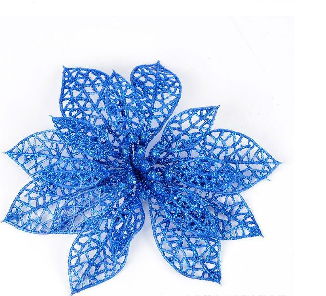 Nouveau 6 couleurs Glitter Hollow Wedding Party Decor Décorations de Noël Décoration 10cm or rose bleu argent