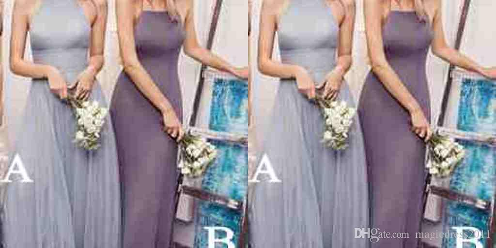 Two Style Garden Classic Elegant Bridesmaid Dresses A Line Halter Backless Sleeveless Floor Length Draped Ladies formal tuxedo