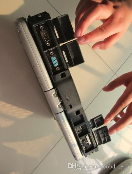 Top-Qualität Toughbook CF19 mit Garantie Auto-Diagnose-Laptop CF 19 mit Touch drehen Bildschirm HDD für mb Stern C3 / C4 c5
