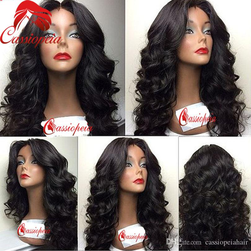 8A Malaysian Deep Wave Full Lace Human Hair Wigs with Baby Hair Glueless Lace Front Virgin Hair Wigs For Black Women