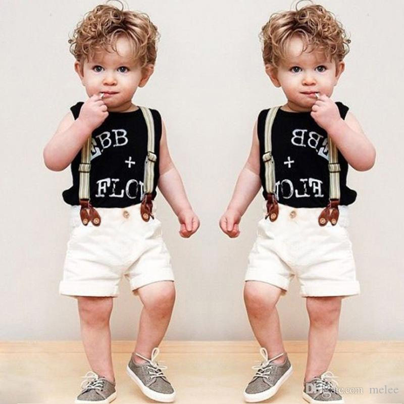 924f82639 2016 New Summer Baby Boys Clothes Set Character Tank Top + Shorts + ...