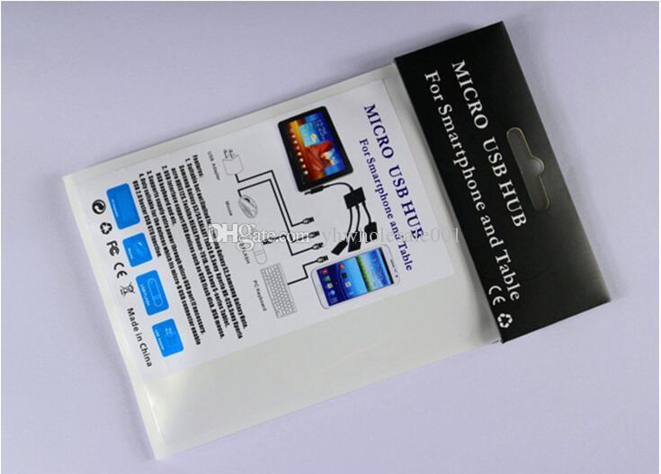 Al por mayor nuevo 3 en 1 Micro USB de carga de energía OTG Hub Cable Adapter Converter Extender para teléfonos móviles para Samsung Galaxy