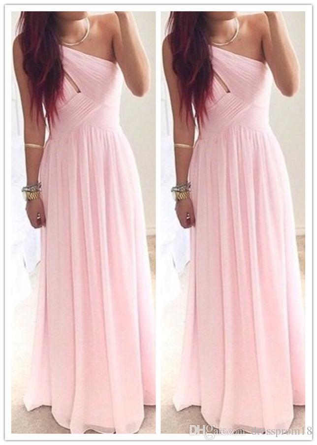 Compre Barato Vestido De Fiesta 2016 Para Jóvenes Rosa Un Plisado ...