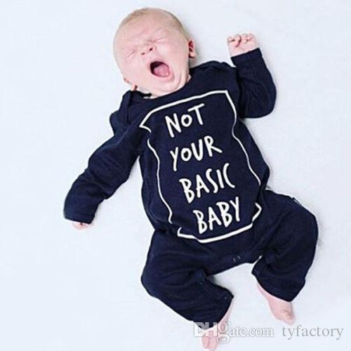 i pagliaccetti dei ragazzi di modo Neonato Manica lunga del cotone della manica della ragazza del neonato non le vostre parole omosessuali di base del bambino stampano i vestiti del costume dei bambini dell'attrezzatura