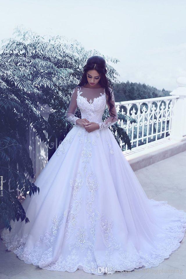 2017 Krikor Jabotian Alto Basso Detto mhamad sposa vestiti sexy Backless senza bretelle di Applique su ordine pieghe maniche lunghe abiti da sposa