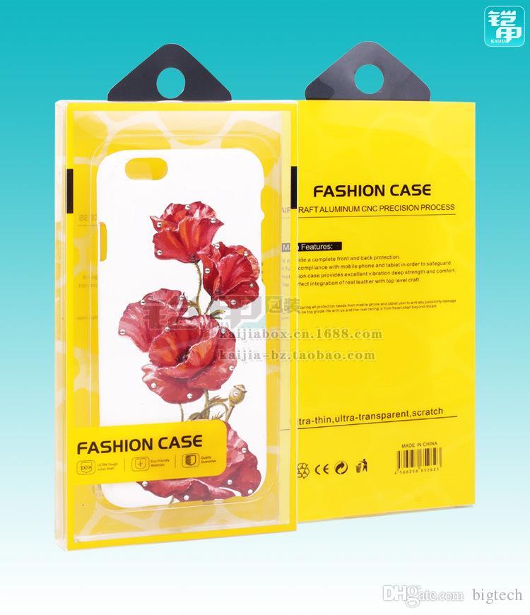 Горячая продажа новый дизайн мобильного телефона случай подарочной упаковки коробка с высоким качеством с внутренними лотками для 5,5 дюймов для iPhone 7 / 7plus