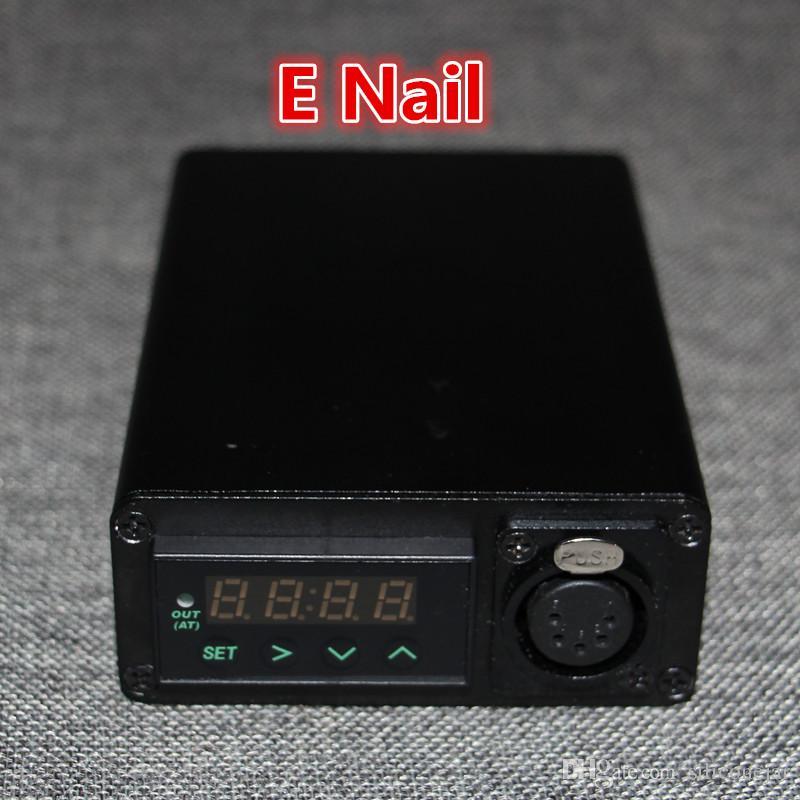 DHL envío gratis colector de néctar unidad eléctrica del clavo eléctrico caja de clavo bobina calentador con 5 pin xlr enchufe 100 w mini caja de clavo eléctrica diy