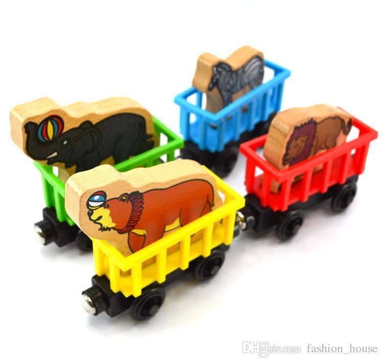53 أنماط خشبية القطارات الصغيرة اللعب كارتون الأصدقاء خشبي مجموعة كاملة من اللعب القطار لعبة سيارة =
