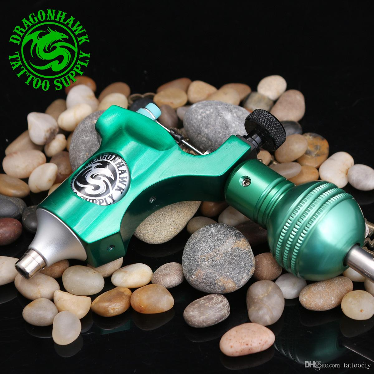 New style rotary tattoo machine gun swiss motor aircraft aluminium high quality best price green color MDJ-JC-7-2