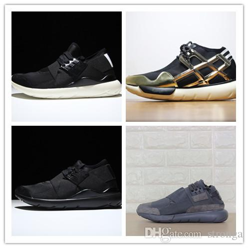 18 New Style Y-3 QASA RACER Hight Sneakers Breathable Casual Shoes Couples Y3 Outdoor Trainers Size Eur36-44 cheap high quality free shipping top quality Zr83bmv