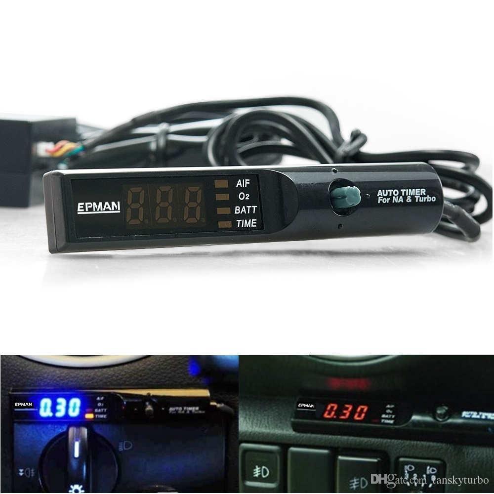 EPMAN Auto Car Blu / Rosso / Bianco Led Digital Cool Down Turbo Timer Turbo NA Controllo penna nera EP-YSQ022