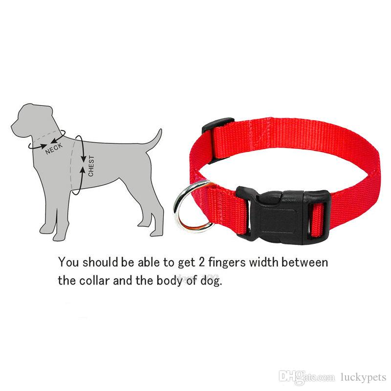 Pet Dog Puppy New 2016 Trendy Charming 4 Sizes S-XL Nylon Solid Collar With