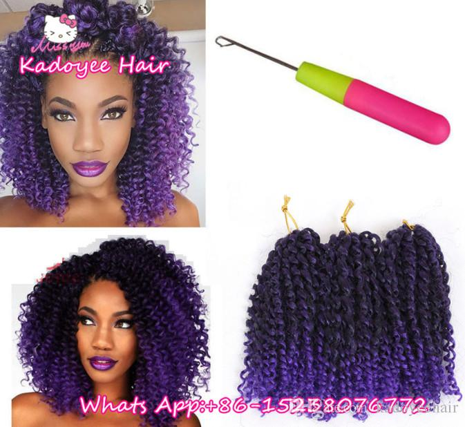 2019 Crochet Braids Caribbean Twist Braiding Hair Bundles Kinky
