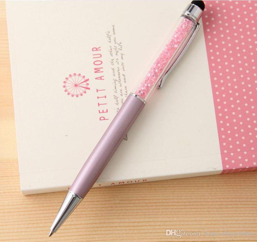 Mutlti-Funktions-Metallnoten-Stift-Tinte, Farbdiamant-Kristallnoten-Stift-Stift für iPad iPhone 5S 4G iPod zünden an