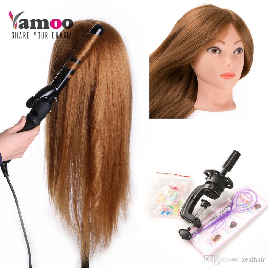 Großhandel 60 Echtes Menschliches Haar Trainingskopfpuppen Für