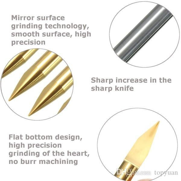 3.175mm Shank 30 Degree 0.2mm Titanium Coated Carbide PCB Engraving CNC Bit Router Tool