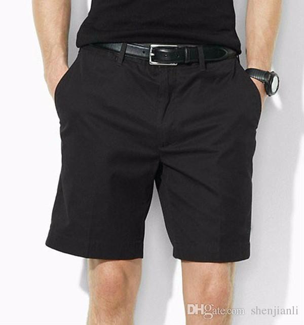 Atacado Drop Shipping 2016 de alta qualidade de algodão dos homens calções dos homens da moda calções casuais masculinos pônei calções de bola 6 cores tamanho M-XXXL