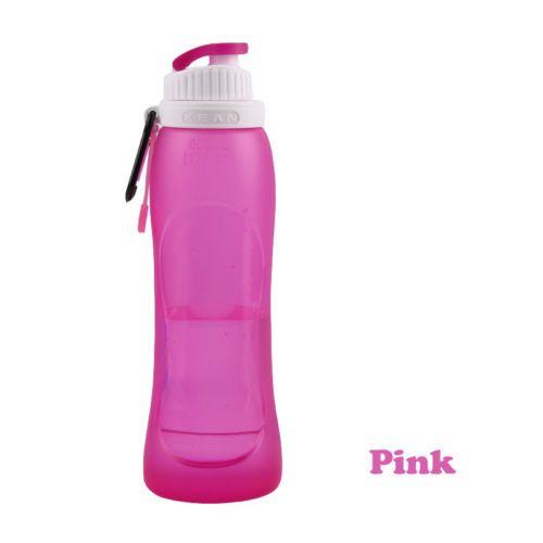500 ml Plegable Plegable Bebida Botella de Agua Caldera Copa Silicona Viaje Deportes silicona botella de agua de Calidad Alimentaria
