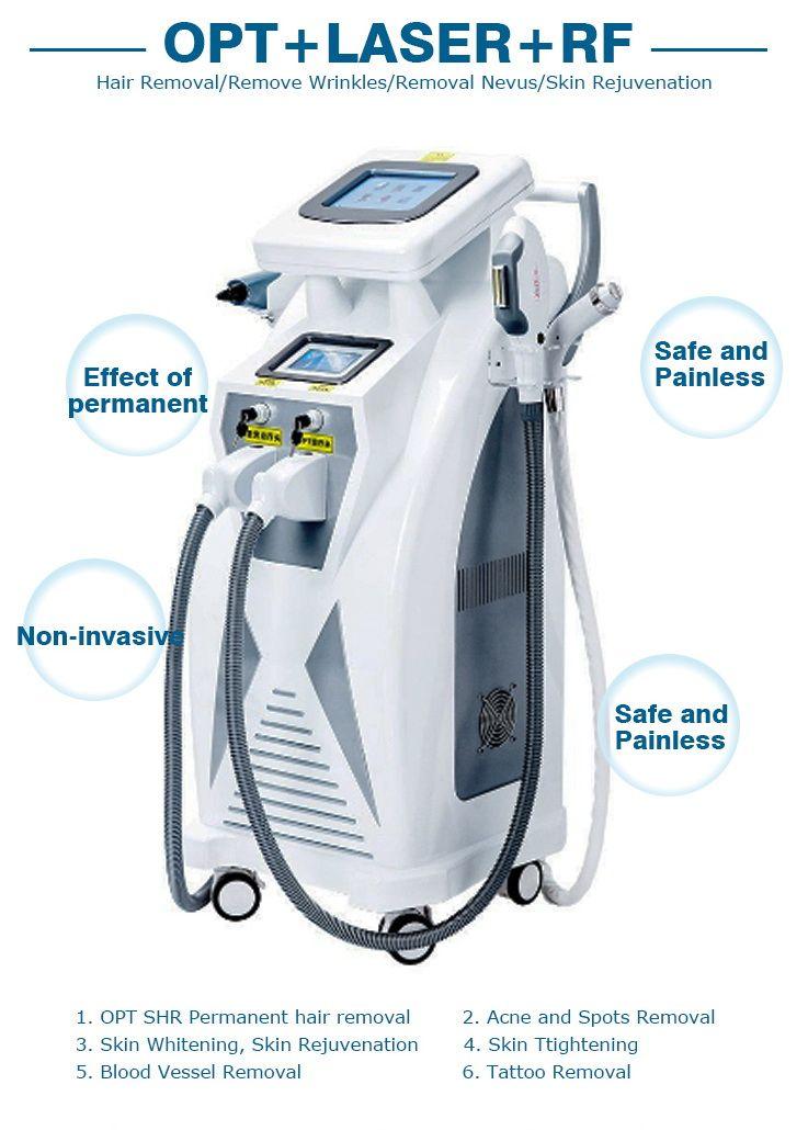 5 in 1 Pro Salon OPT IPL Laser Permanent Hair Removal RF Skin rejuvenation Spot freckles removal blood vessel/ erythema removal