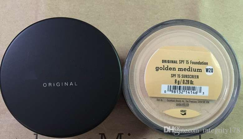 Drop shipping Foundation Minerals original Foundation loose powder 8g C10 fair/8g N10 fairly light/8g medium C25/8g medium beige N20.