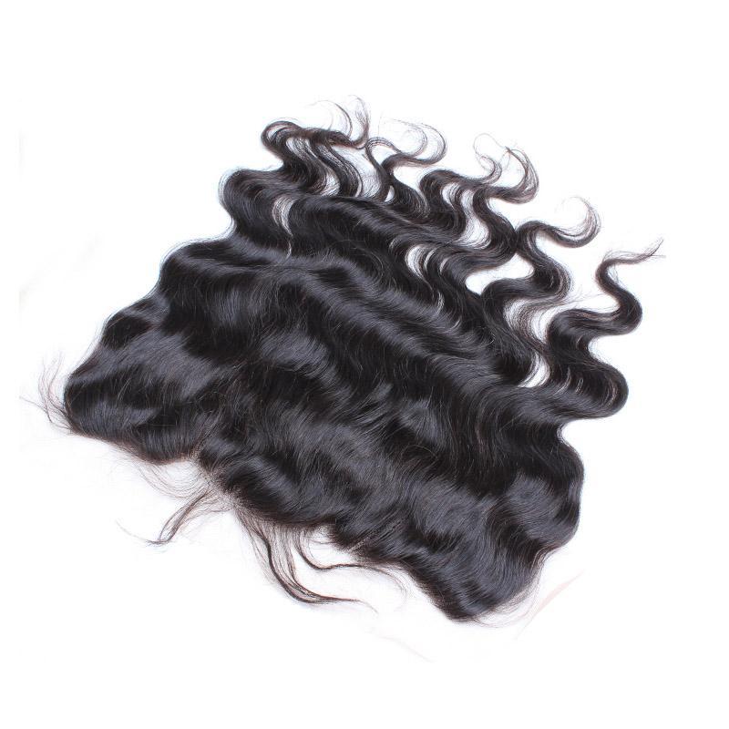 Koronkowy Frontal 2 * 13 Dziewiczy Brazylijski Human Hair Ciało Wave Włosy 8-26 calowe Kolor Naturalny Rozszerzenia Włosów Bellahair