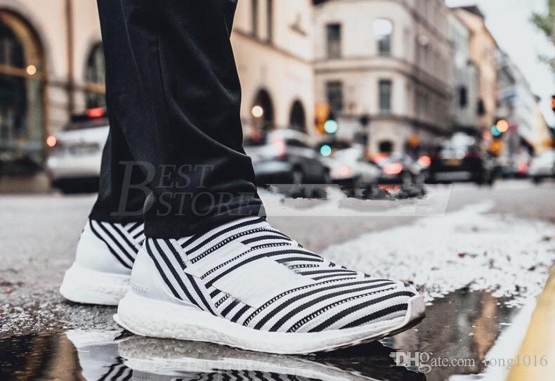 100% Original Real Boost TANGO 17+ ULTRA BOOST Sport Running Shoes Men Beckham Casual Shoes pink yellow blue grey shoes size 40-45 enjoy cheap price JuCzgVjav