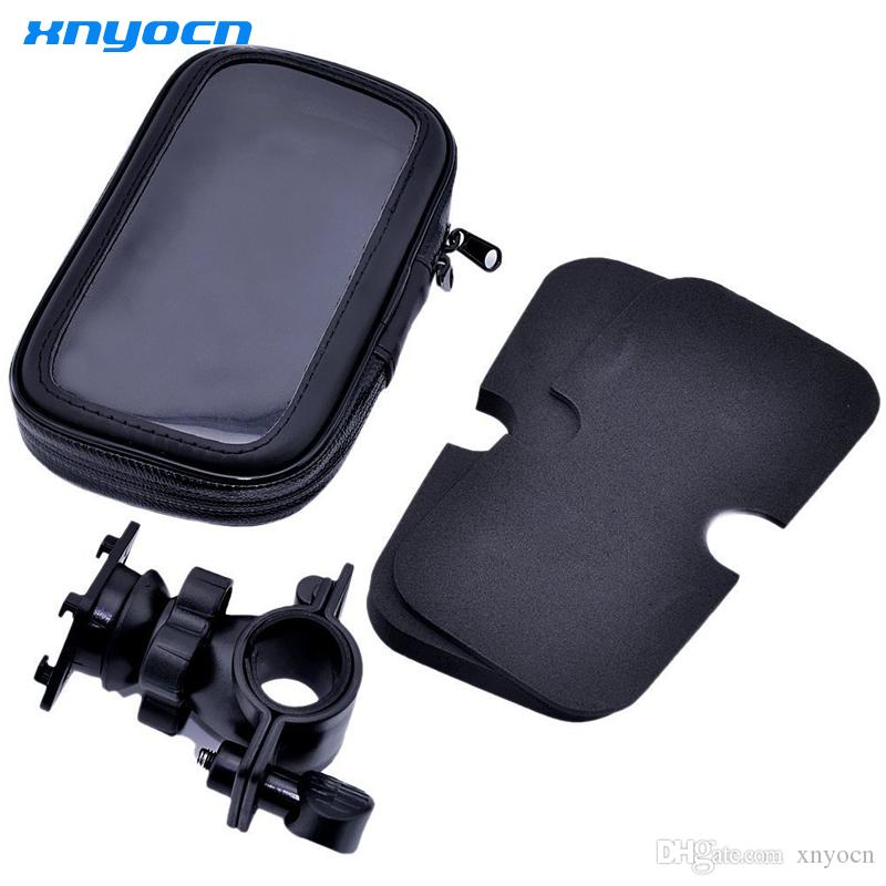 Universal Auto Waterproof Motorcycle Bike Bicycle Mount Phone Holder Bag Case soporte for iPhone 6 6S Samsung Galaxy S3 S4
