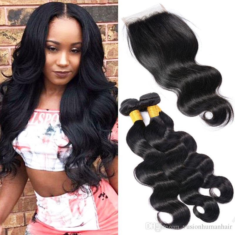 Body Wave Weave Hair Styles 3 Bundles With Closure Unprocessed Remy
