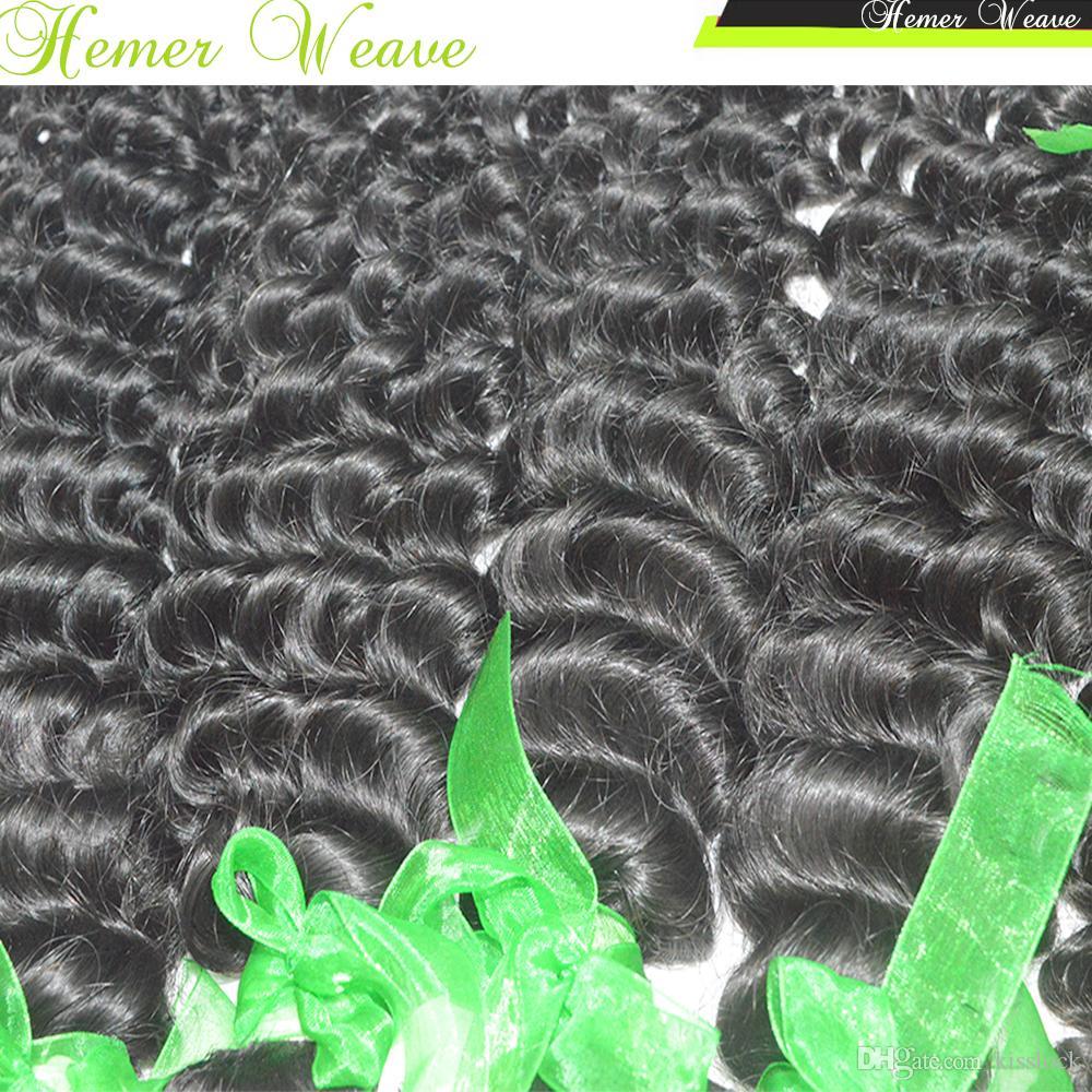 Vierge indienne pas cher cheveux bouclés cheveux bouclés meilleur 8A armure naturelle / expédition rapide DHL