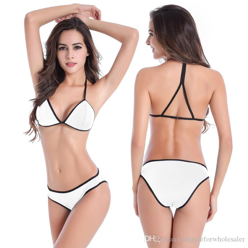Extreme Triangle Bikini Sale Back Closured Straps Top Beachwear Underwired Cup Sexy Women Bikinis Girls All Female Vintage High Waist Bikini