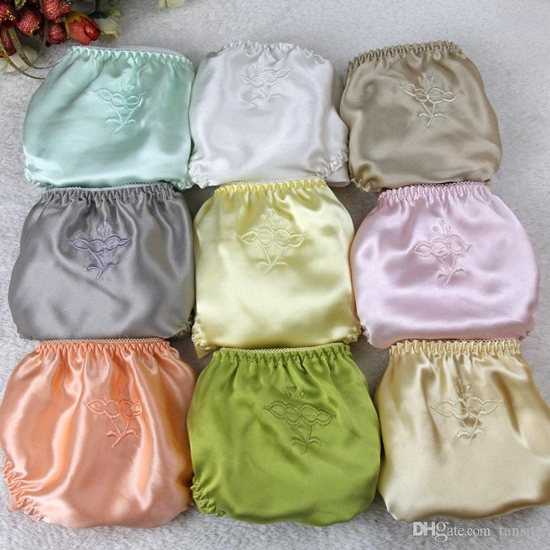 8d316c164 2019 The China National Silk Women Silk Satin Panties Female Floral  Embroidery Underwear Ladies Knickers Pure Silk Briefs From Tansitz