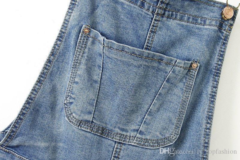 Frau Marke Ripped Loch Denim Jumpsuits Damen Sexy Dünne Beiläufige Spielanzug Plus Größe Denim Bleistift Jeans Für 4 saison
