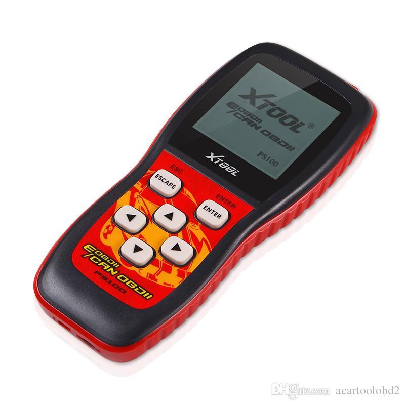 Lectores de códigos de escáner de códigos XTOOL PS100 originales 100% mejor calificados de 2018 ps100 CANOBDII EOBDII escáner obd2 escáner envío gratis