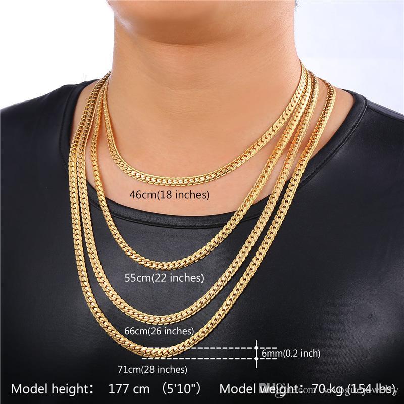 Collar chapado en oro real de 18 quilates con el sello