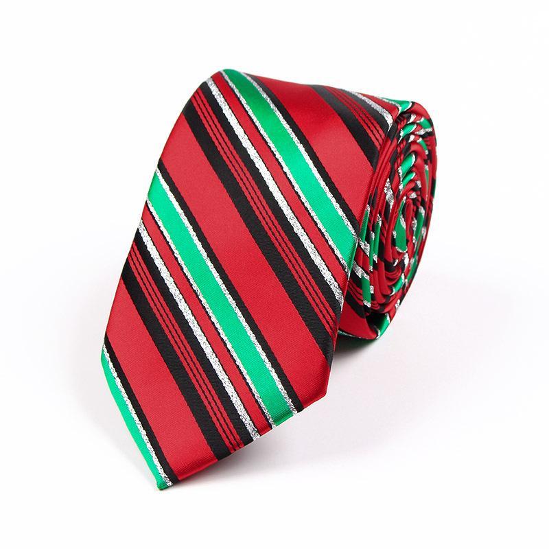 Cravate de Noël noël 11 couleur 145 * 7.5cm Cravate Jacquard X-mas Cravate Cravate flèche en Polyester pour homme pour cadeau de Noël gratuit TNT Fedex