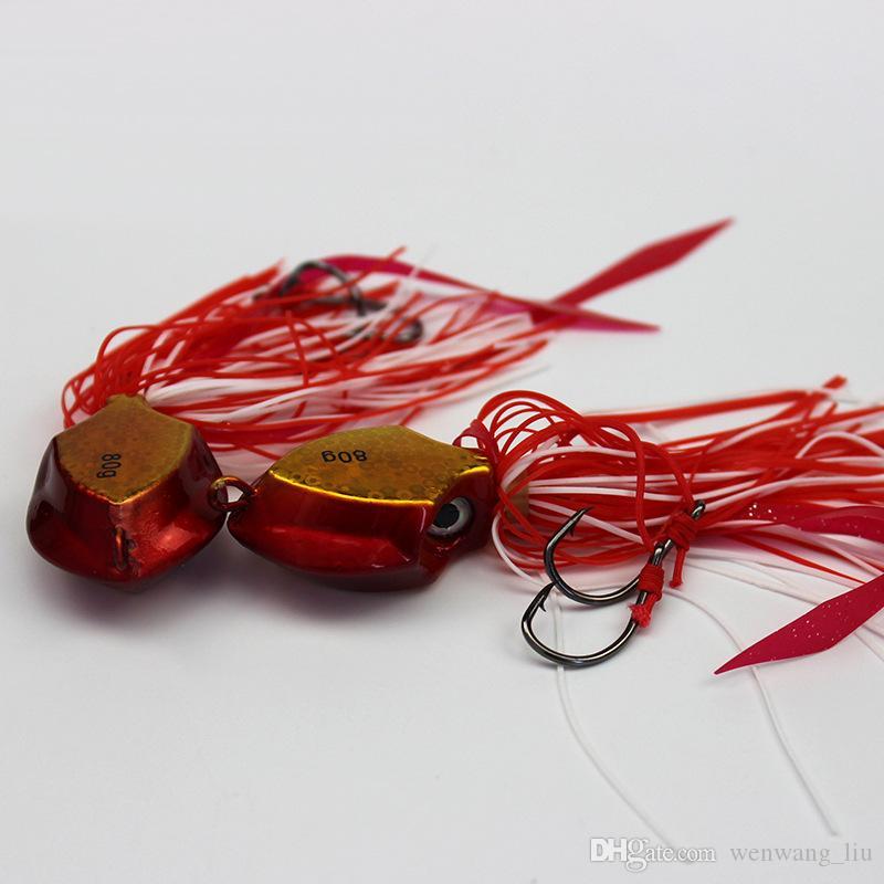5 قطع 80 جرام الرقص هوك الصيد السنانير الطعوم المعدنية السحر الاصطناعي الطعم pesca صيد السمك الملحقات