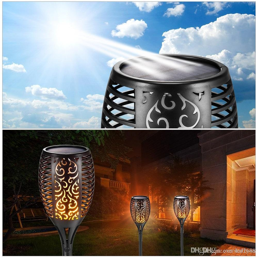 Discount solar lawn lamp garden torch lights 96 led dancing flame discount solar lawn lamp garden torch lights 96 led dancing flame lighting outdoor waterproof flickering tiki torches landscape light path lights from china workwithnaturefo