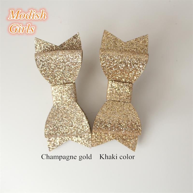 Hotsale Wholesale Bestseller Glitter Felt Hair ClipsBowknot Baby Shining Barrettes Hair Bows Cute Hairpins