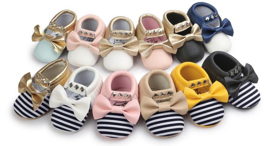 Baby PU Läder Skor Moccasins Soft Shoe Nyplockad Handgjorda Camouflage Tassel Toddler Prewalker Baby Soft Tassel Moccasins