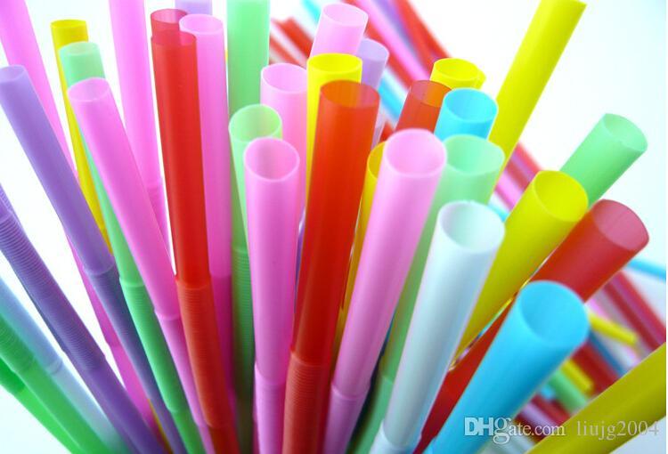 100 pz / pacco accessori bar mix colori alimentari grado di plastica usa e getta cannucce pieghevole succo di latte bere paglia bar bevande partito