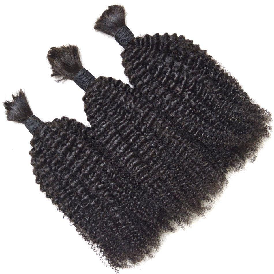 Bulk Hair Brazilian Kinky Curly Human Hair for Micro Braiding Hair Bulk No Attachment G-EASY
