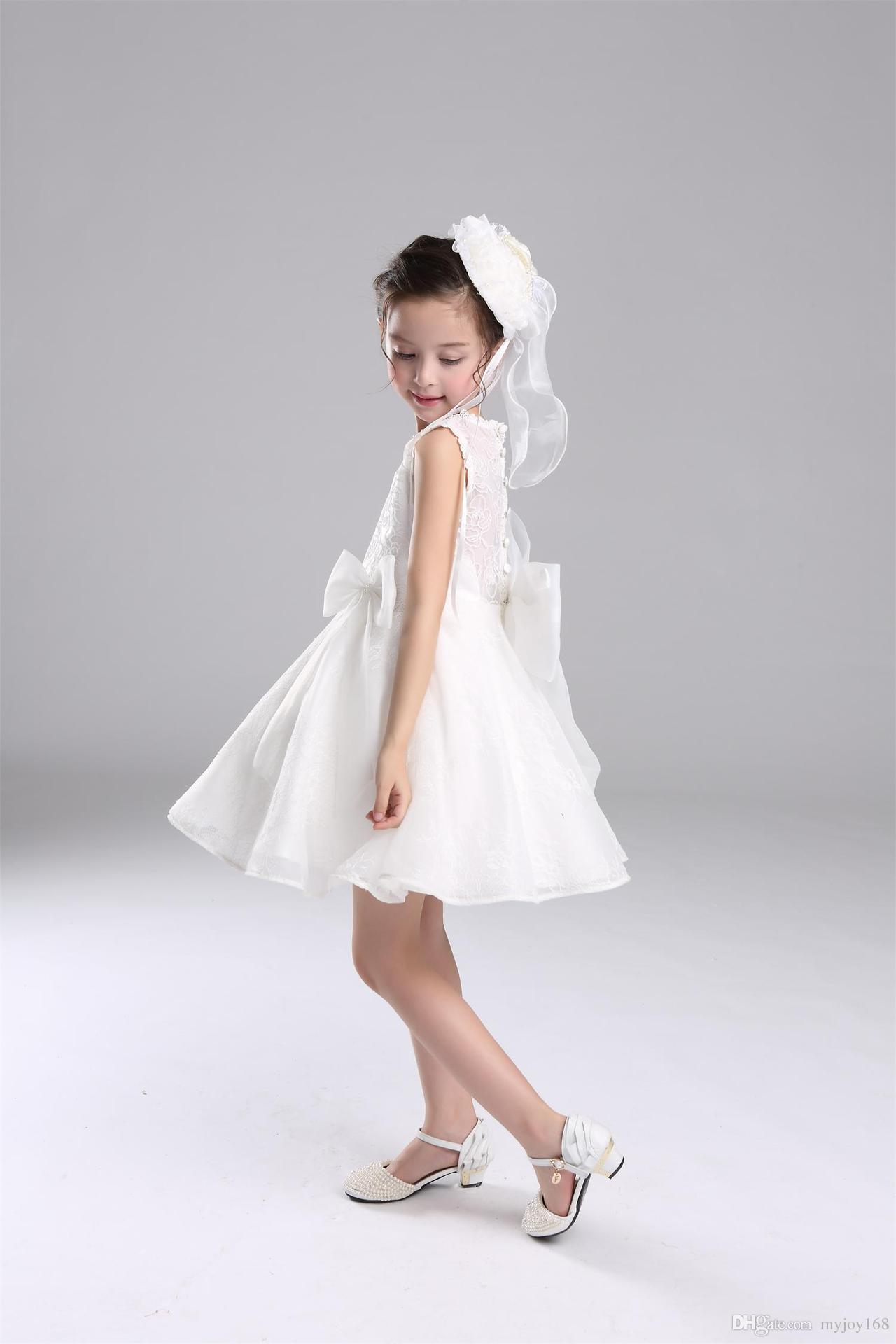2016 new design flower baby girl dresses children white princess 2016 new design flower baby girl dresses children white princess bridesmaid flower girl dresses party dresses baby girl lace dress toddler pageant dresses ombrellifo Image collections