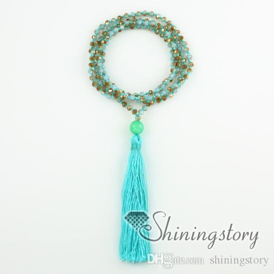 bijoux en perles de yoga bijoux de parité bijoux perles collier de prière collier mala perles bracelet collier pompon non étirable