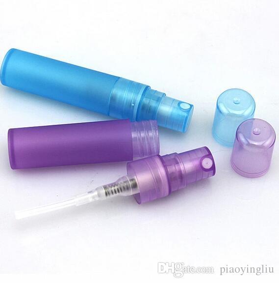 50 stücke 3 ml 5 ml 10 ml Kunststoff Spray Leere Kosmetische Parfümbehälter mini flasche Stiftsprüher Parfüm proben flasche Rosa / Lila / Blau