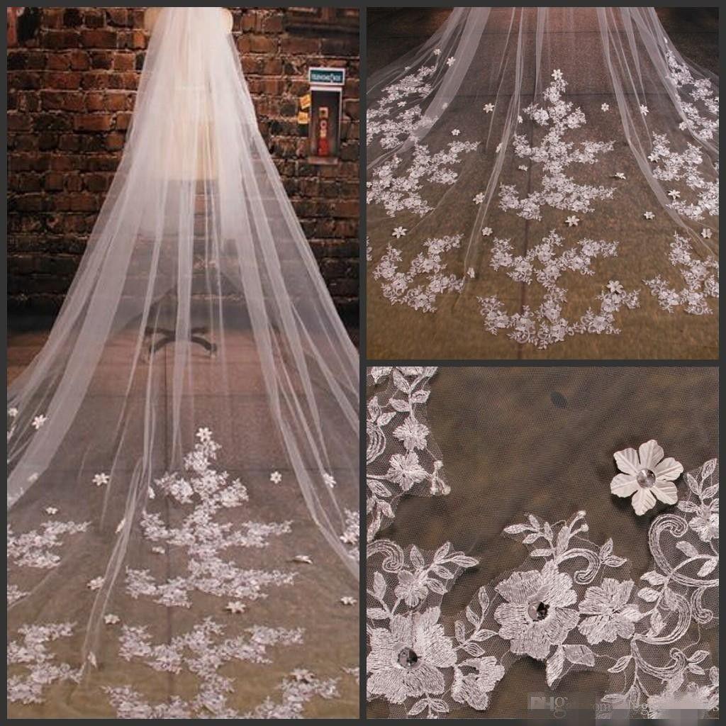 Wedding Veils Styles: 2016 Wholesale Bridal Veils Styles Tulle Wedding Veils