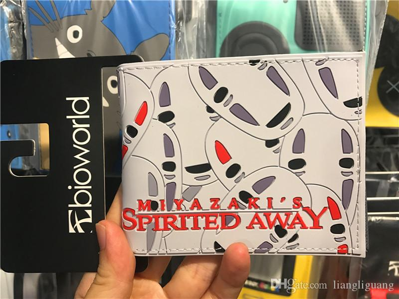 High Quality 2017 New Spirited Away No Face Mask Printing Wallet Pu Leather Anime Purse Cartoon Card Holder Carteira