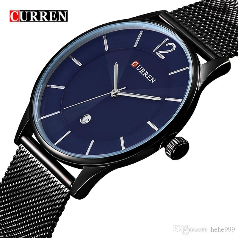 6d7af66b889 CURREN New Fashion Casual Quartz Watch Men S Full Calendar Watch Waterproof  Luxury Brand Business Relogio Masculino Watches On Sale Watches Sale From  ...
