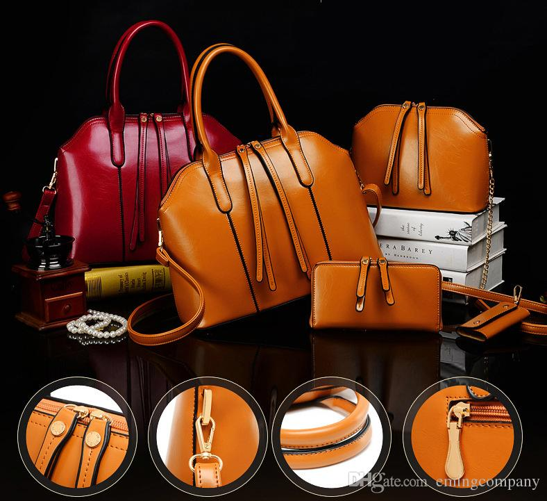 New Designer Women Set Fashion Bags Ladies Handbag Sets Leather Shoulder Office Tote Bag Cheap Womens Shell Handbags Sale Hand bag