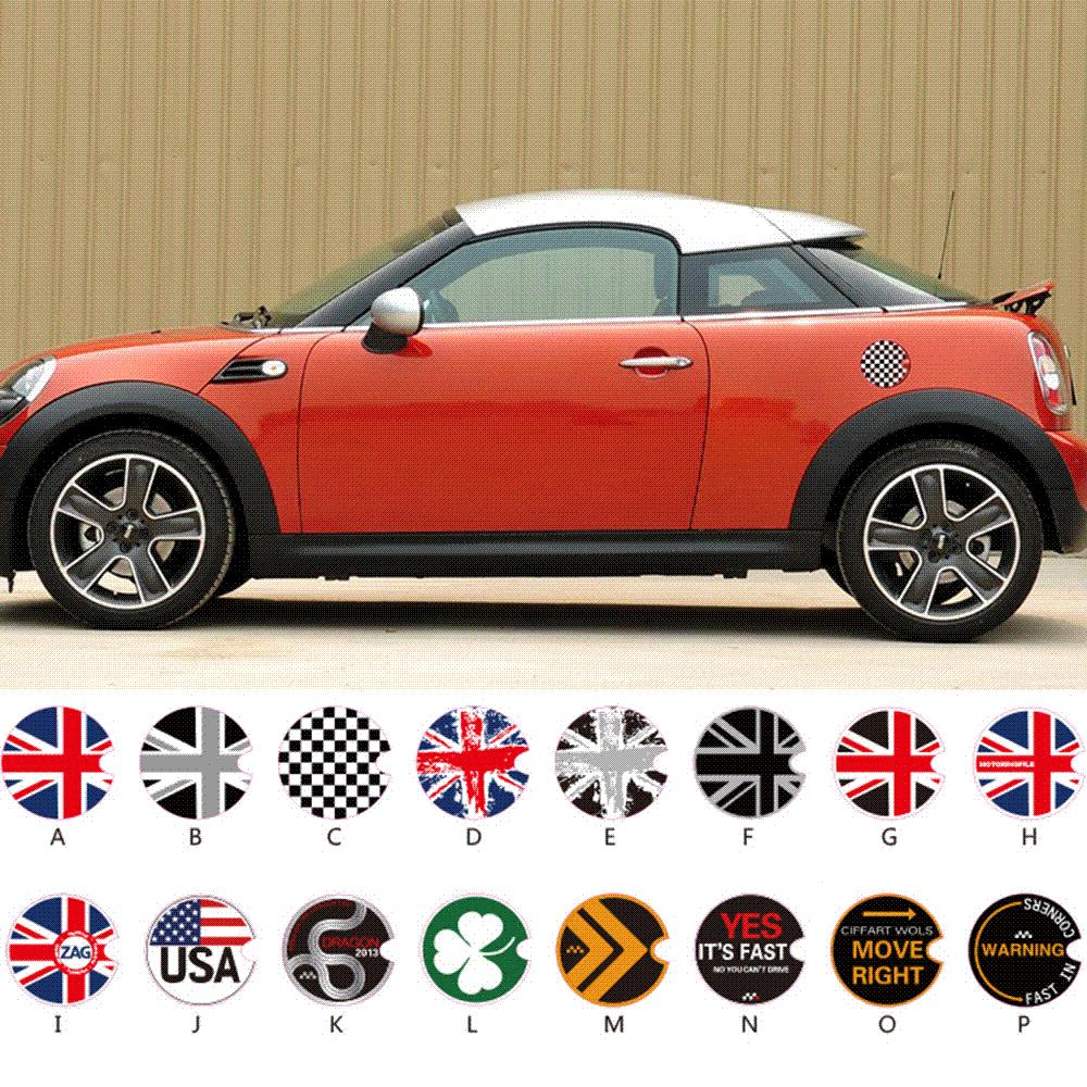 Car Accessories Fuel Tank Cap Sticker Oil Tank Decals For Mini