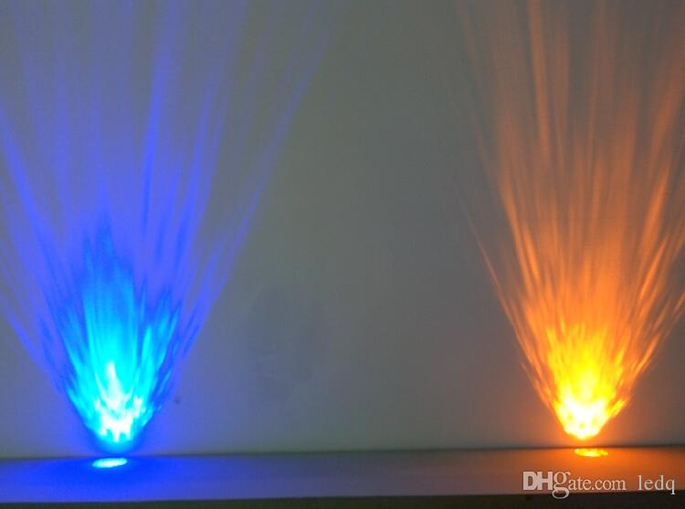 3 W Luzes Decorativas de Parede Ondas de Água LEVOU Linhas de Luz Efeito 110-240 V Auto Voice-ativado Aquarium Stage Lâmpada KTV Lâmpada Vermelho Azul Branco